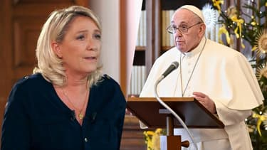 Marine Le Pen et le Pape François (Photo d'illustration).