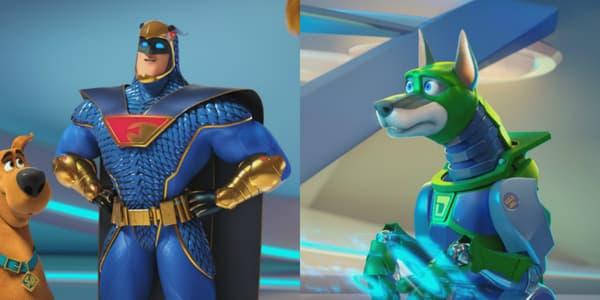 Blue Falcon et Dynomutt dans Scooby
