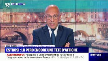 """Éric Ciotti à propos de Christian Estrosi: """"Ça fait quatre ans qu'il a rejoint Emmanuel Macron"""""""