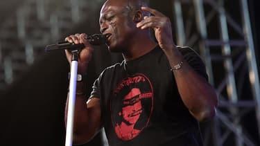 Le chanteur Seal au festival Coachella en 2016.