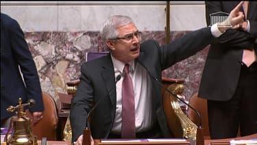 Claude Bartolone, le président de l'Assemblée nationale, lors du vote solennel sur le mariage pour tous le 23 avril 2013.