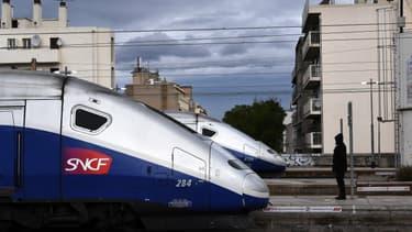 1 TGV sur 3 circulera lundi (image d'illustration)