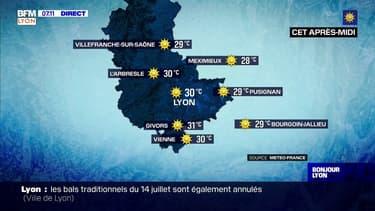 Ciel bleu, grand soleil et chaleur au programme de ce lundi dans la région lyonnaise, jusqu'à 31°C cet après-midi