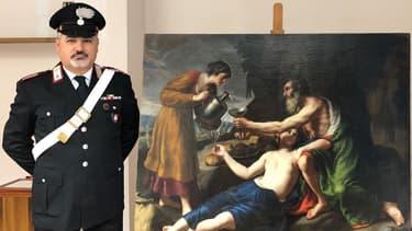 """""""Loth avec ses deux filles lui servant à boire"""", tableau de Nicolas Poussin volé par les Nazi a été restitué à ses propriétaires."""