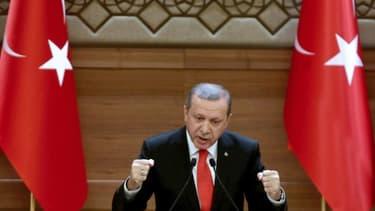 Le président turc Recep Tayyip Erdogan, à Ankara, le 20 janvier 2016
