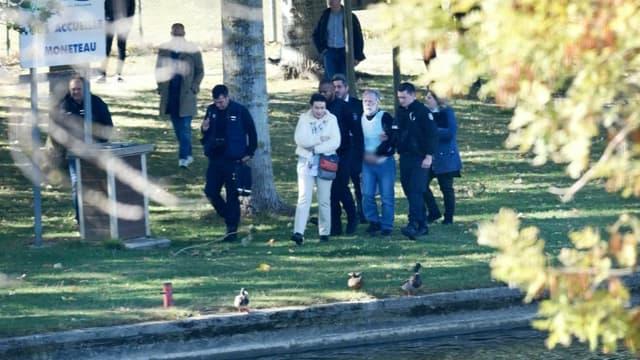 Michel Fourniret, 76 ans, a été extrait de sa cellule pour être conduit sur les lieux où le corps de Joanna Parrish a été découvert en 1990.