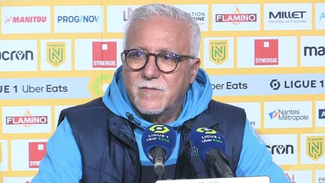 Nasser Larguet, entraîneur intérimaire de l'OM, à Nantes le 20 février 2021