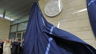 Le secrétaire d'Etat américain du Trésor Steven Mnuchin et la conseillère du président des Etats-Unis Ivanka Trump, le 14 mai 2018 à Jérusalem lors de l'inauguration de l'ambassade.