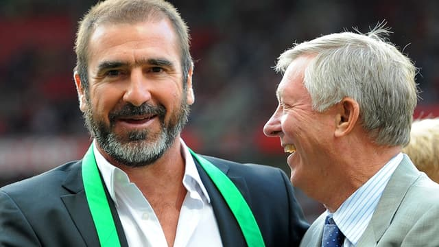 Eric Cantona avec Sir Alex Ferguson