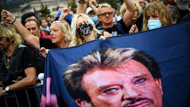 Hommage à Johnny Hallyday le 14 septembre 2021 à Paris