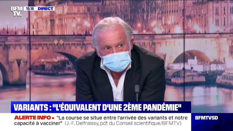 """Jean-François Delfraissy: """"Nous n'aurons pas vacciné l'ensemble des Français pour l'été"""""""