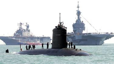 Le sous-marin Perle au large de Portsmouth, au Royaume-Uni, en juin 2005 (illustration)