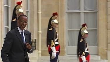 Le président rwandais Paul Kagame, ici à la sortie du palais de l'Elysée (photo d'illustration).