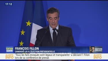 """Conférence de presse: """"Je suis le candidat pour gagner"""", affirme François Fillon"""
