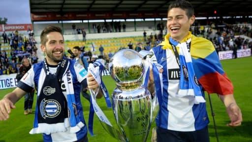 Joao Moutinho et James Rodriguez (à droite), vont être transférés à l'AS Monaco pour 70 millions d'euros.
