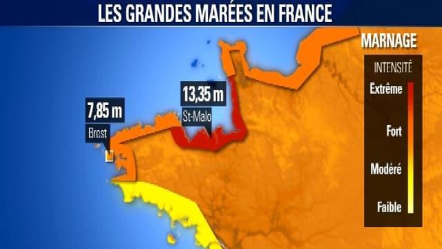 La Normandie sera la région la plus touchée par le phénomène des hautes marées.