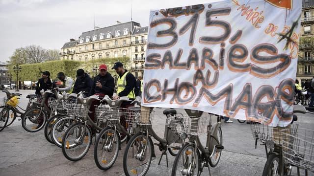 Les salariés de Vélib' ont fait grève en novembre.