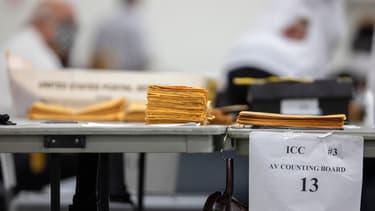 Centre dé décompte des votes à Détroit, au Michigan, le 4 novembre 2020