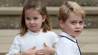 Le prince George et sa sœur la princesse Charlotte
