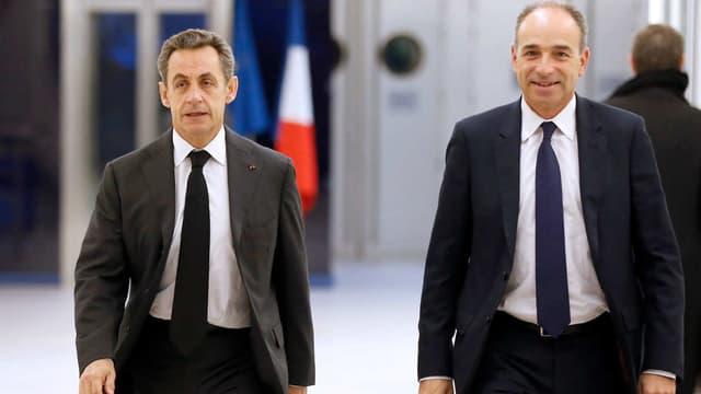 Jean-François Copé et Nicolas Sarkozy, en décembre 2014.