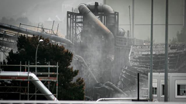 """L'inspecteur a constaté que le plan anti-incendie de l'usine n'était pas complet au sens de la réglementation Seveso seuil haut, et qu'il ne prenait pas en compte """"les fûts stockés à l'extérieur""""."""