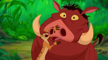 """Timon et Pumbaa, acolytes de Simba dans """"Le Roi Lion"""""""