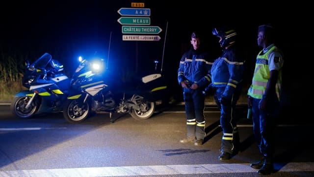 Les gendarmes à Sept-Sorts.