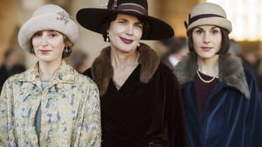 """Elizabeth McGovern, Michelle Dockery et Laura Carmichael, dans la peau des héroïnes de """"Downton Abbey""""."""