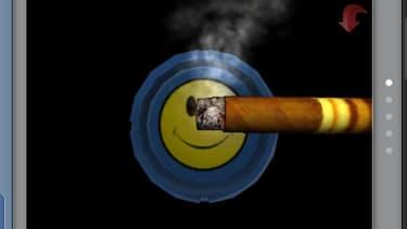 """Interface d'une application proposée lorsqu'on tape le mot-clé """"tobacco"""" dans l'App Store"""