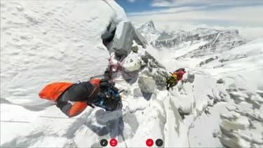 Quatre sherpas ont gravi l'Eevrest avec une caméra à 360 degrés