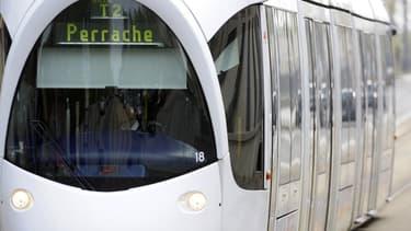 Le tramway à Lyon.