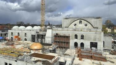 La future mosquée de Strasbourg, Eyyub Sultan, en construction, le 6 avril 2021