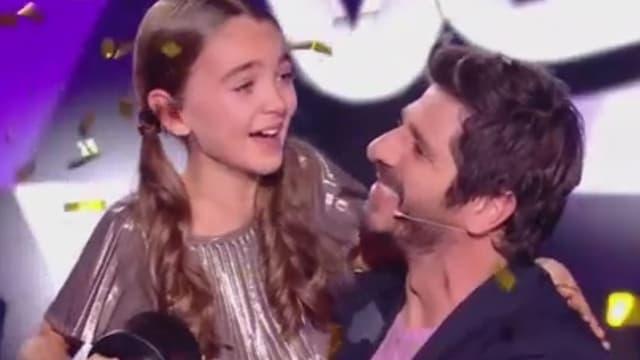 Angelina, gagnante de The Voice Kids, et son coach Patrick Fiori