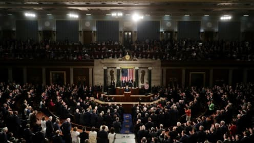 Le congrès américain, le 28 février 2017, à Washington DC