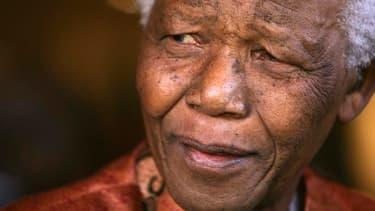 Nelson Mandela, héros de la lutte contre l'apartheid et premier président noir de l'Afrique du Sud.