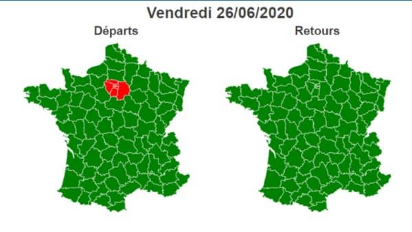 Ce vendredi est classé rouge sur les routes d'Ile-de-France.