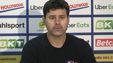 Mauricio Pochettino en conférence de presse, à Lens le 13 janvier 2021