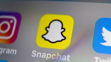 L'application Snapchat.