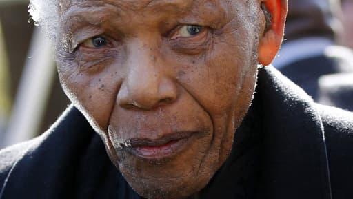 Nelson Mandela, le 17 juin 2010.