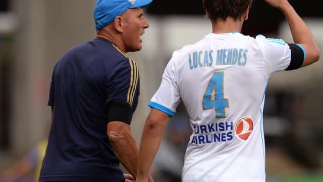 Elie Baup et Lucas Mendes