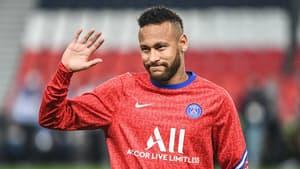 Neymar à l'échauffement du PSG