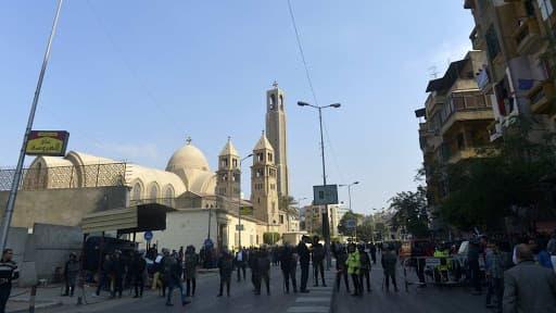 L'église copte orthodoxe du Caire où l'explosion a eu lieu.