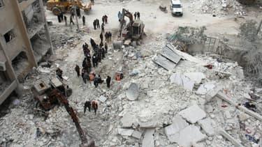 Idleb, en Syrie, le 15 mars 2017
