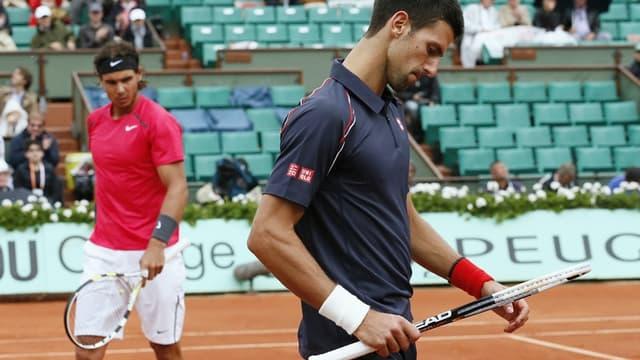 Nadal et Djokovic lors de la finale 2012.