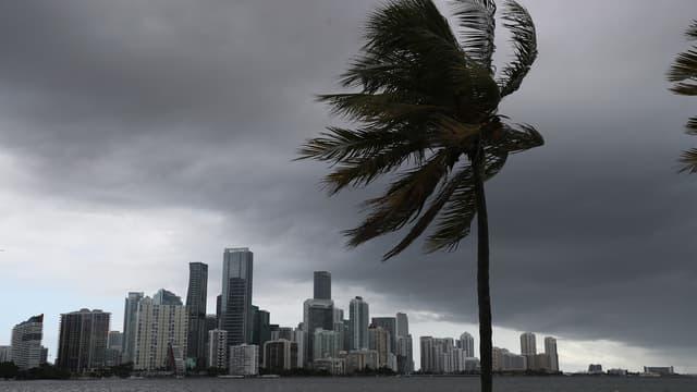 Miami lors du passage de la tempête tropical Isaias, le 1er août 2020.