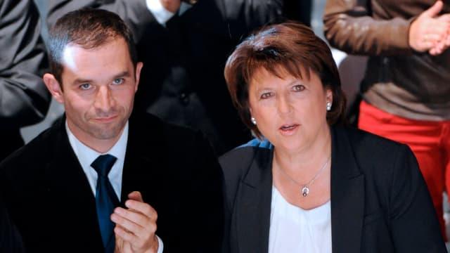 Benoît Hamon et Martine Aubry, en octobre 2011