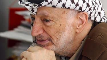 Yasser Arafat, ancien leader palestinien, ici à Ramallah en Palestine.