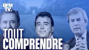 Bernard Arnault, Arnaud Lagardère et Vincent Bolloré