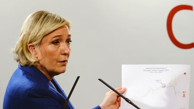 """Marine Le Pen considère que le nucléaire est une """"énergie propre"""""""