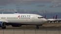 Un avion de la compagnie aérienne américaine Delta Air Lines en Californie en mars 2020.